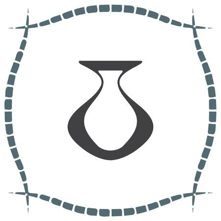 greek pottery: Vase vector icon. Pottery sign. Greek ceramic pot symbol