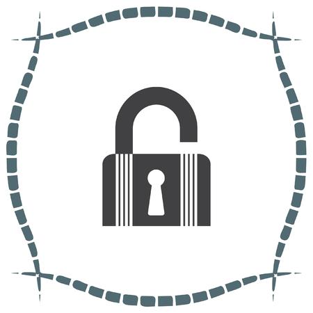 lock symbol: Lock open state vector icon. Padlock sign. Security symbol