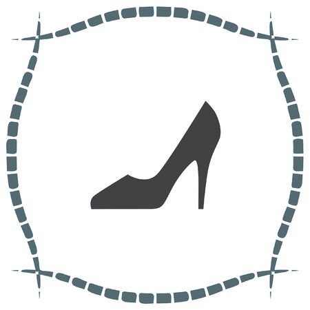 HEELS: Woman shoes vector icon. High heels sign. Female classy footwear