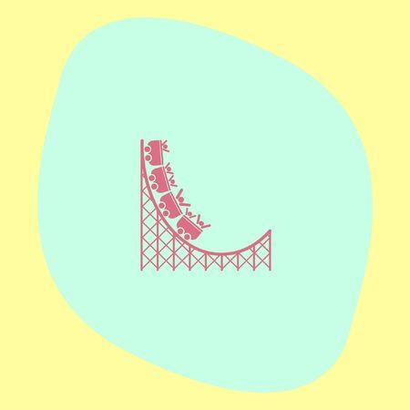rollercoaster: Roller coaster vector icon. Amusement park sign. Speed ride symbol Illustration