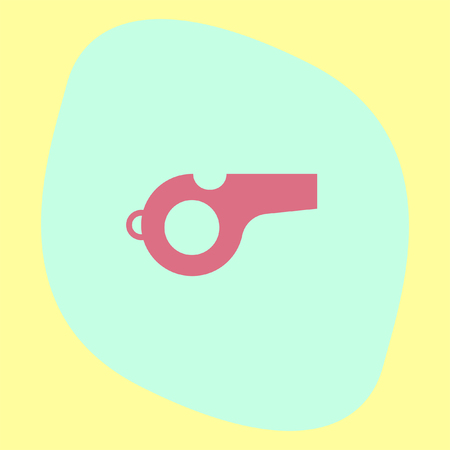 arbitro: Whistle vector icon. Coach sign. Referee symbol Vectores