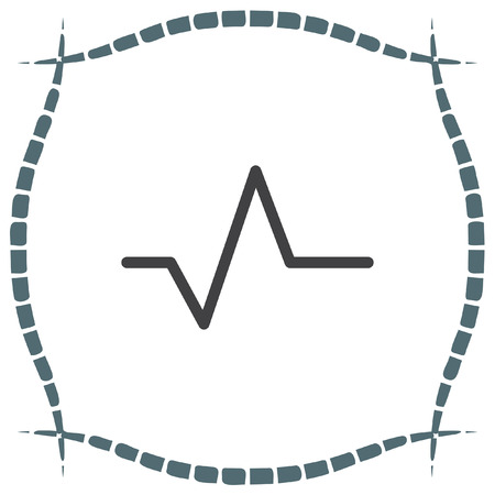 heart beat: Pulse sign line vector icon. Heart beat sign vector icon