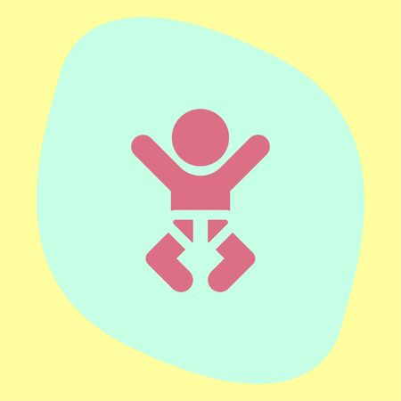 toddler: Baby vector icon. Cute toddler symbol. Newborn sign. Illustration