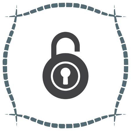 lock symbol: Lock open vector icon. Padlock sign. Security symbol Illustration