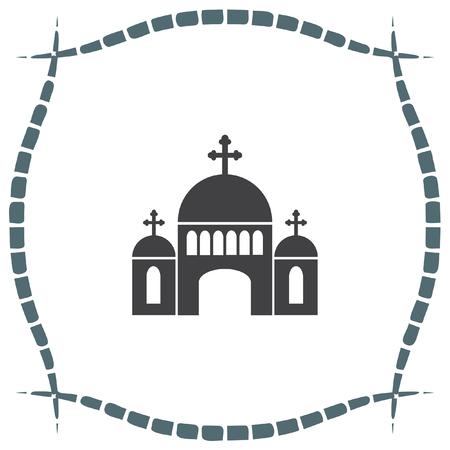 religious symbol: Church vector icon. Monastery sign. Temple symbol. Religious building icon. Illustration