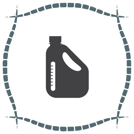gallon: Jerrycan Oil Can vector icon. Petrol container sign. Fuel can symbol Illustration