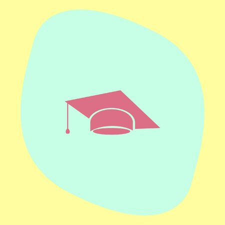 diplomatic: Graduation cap vector icon. Finals sign. Diplomatic hat Illustration