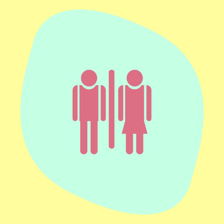 restroom sign: Man and woman toilet vector icon. Restroom sign. Water closet symbol Illustration