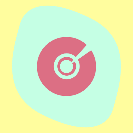 compact disk: CD DVD vector icon. Multimedia symbol. Compact disk sign. Information media icon.