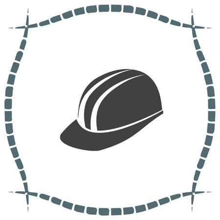 headgear: Protective helmet vector icon. Construction head wear sign. Worker protective headgear symbol Illustration