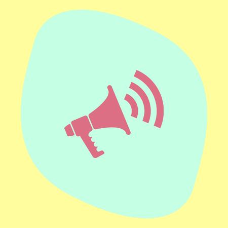 announce: Bullhorn vector icon. Megaphone or loudspeaker sign. Announce symbol.