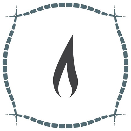 igniting: Flame vector icon. Fire symbol. Flammable sign