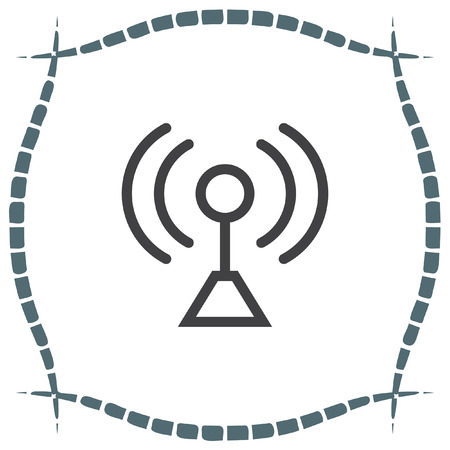 wireless connection: Signal strength sign line vector icon. Wi Fi signal vector icon. Wireless connection symbol. Illustration