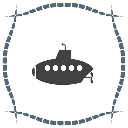 sonar: Submarine vettore icona. segno periscopio. simbolo esplorazione di acqua