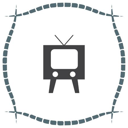 tuner: Television symbol vector icon. Tv sign. Display and video screen symbol