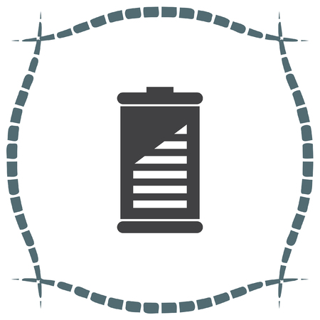 alkaline: Battery vector icon. Energy power sign. Electricity charge symbol. Illustration