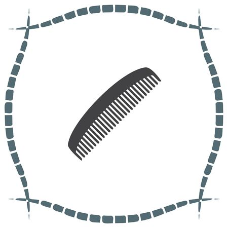 fixing: Comb vector icon. Hair fixing sign. Hairdresser symbol.