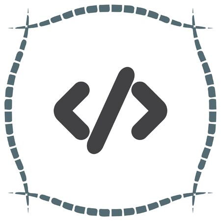 programmers: Coding vector icon. Programmers sign. Computer technology symbol.