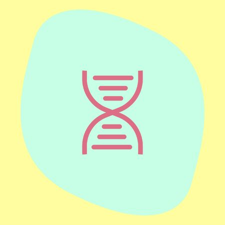gene on a chromosome: DNA chain sign line vector icon. Genetic structure sign. Biology science symbol.