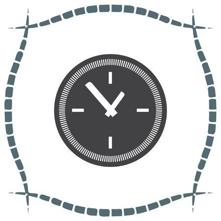 ticker: Clock vector icon. Time shower sign. Ticker symbol. Illustration