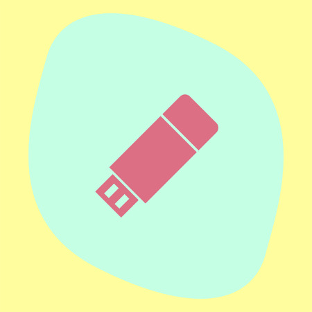 memory stick: USB stick vector icon. Flash memory sign. Removable data drive symbol