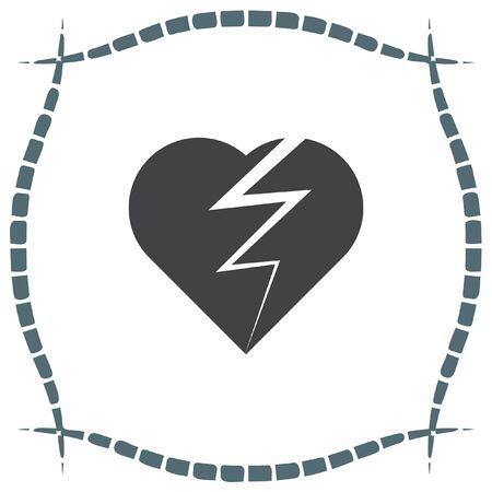 divorce: Broken heart vector icon. Divorce symbol. End of love sign. Illustration
