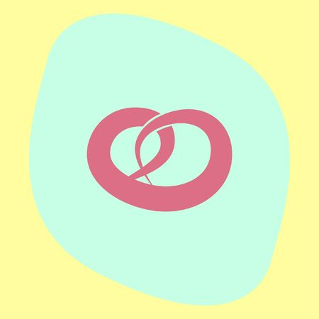 salty: Pretzel vector icon. Salty snack sign. Bakery symbol
