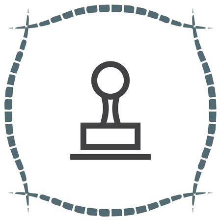 cachet: Stamp sign line vector icon. Cachet symbol. Signet icon. Illustration