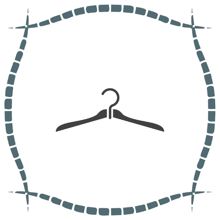 clothing rack: Hanger vector icon. Cabinet sign. Closet symbol