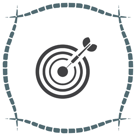 marksman: Target with arrow vector icon. Marksman sign. Archery competition icon. Business goal symbol.