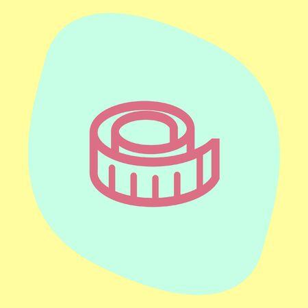 Maßband Vektor-Symbol. Messgerät Zeichen. Bau Messung Symbol