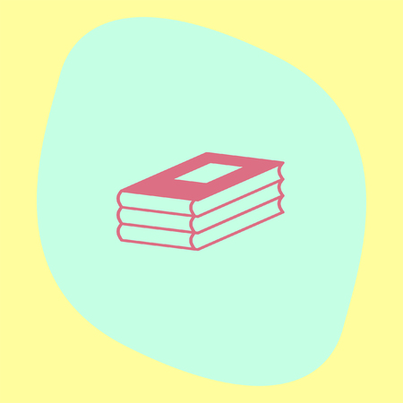 encyclopedias: Three books vector icon. Education sign. School library symbol