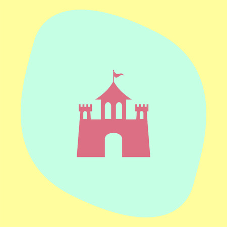 fortresses: Castle vector icon. Fantasy fortress sign. Medieval building symbol.