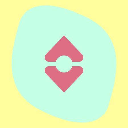 arrange: Sort vector icon. Align sign. Arrange symbol Illustration