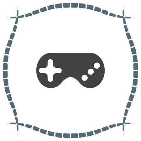 joypad: Game controller vector icon. Game pad sign. Joystick symbol