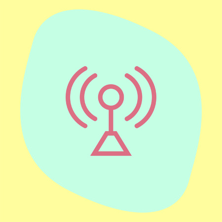 network strenght: Signal strength sign line vector icon. Wi Fi signal vector icon. Wireless connection symbol. Illustration