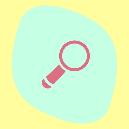 magnification icon: Magnifying glass vector icon. Search sign. Zoom symbol. Find pictograph Illustration