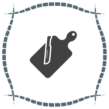 chops: Cutting board vector icon. Kitchen equipment sign. Slicing board symbol