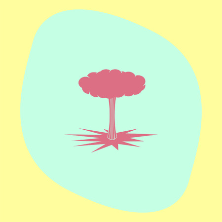 ignition: Bomb Explosion vector icon. Danger symbol.
