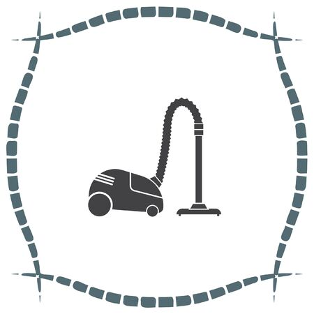 vac: Vacuum cleaner vector icon. Household cleanup symbol Illustration