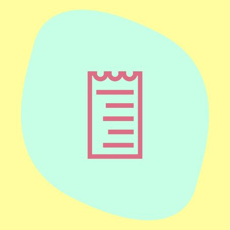 billing: Receipt line vector icon. Bill sign. Pay document pictograph. Business invoice symbol.