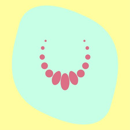 elegance: Necklace vector icon. Jewelry sign. Woman elegance pearls symbol Illustration