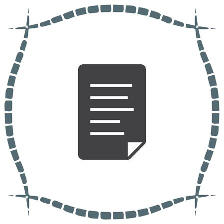 indenture: Document vector icon. File sign. Indenture symbol. Office file sign. Business note symbol.