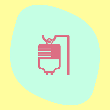 iv bag: IV bag medical vector icon. Infusion sign