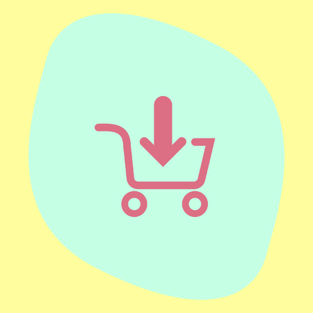 add symbol: Add to shopping chart vector icon. On line shop sign. Web store purchase symbol. Illustration