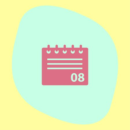 reminder: Calendar vector icon. Office event reminder symbol.