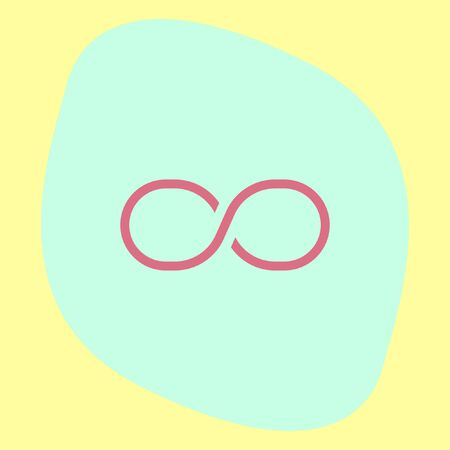 infinity sign: Infinity sign line vector icon. Endless sign icon.