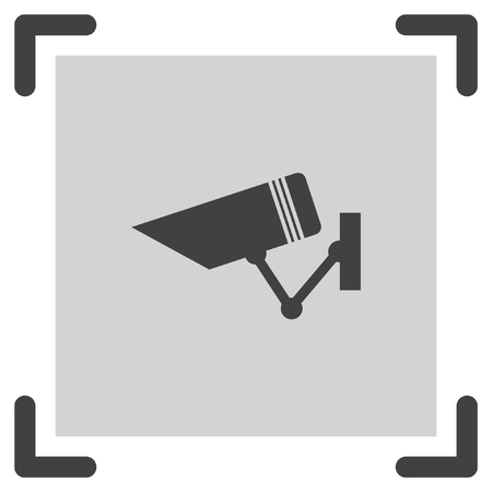 surveillance symbol: Security camera sign vector icon. Video monitoring icon. Camera cctv sign. Surveillance symbol.