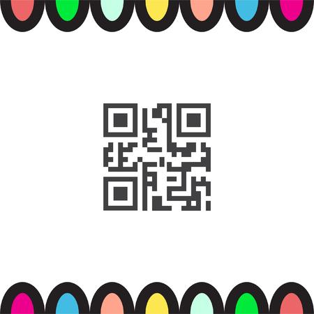 QR code vector icon. Computer business symbol