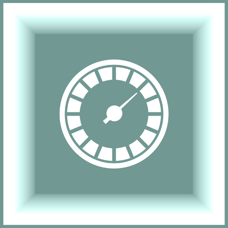 indicator panel: Speedometer icon. Gauge sign. Tachometer symbol Illustration
